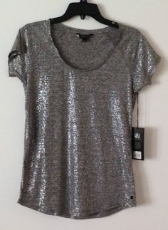 806b33724af2b Rock and Republic Shiny Grey Top Grey Top