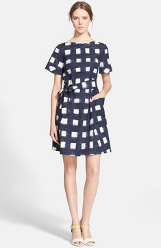 Tory Burch Print Poplin Gingham Shirtdress available for $325.00