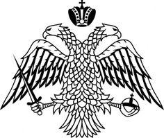 Double-headed eagle of the Greek Orthodox Church - Impero bizantino - Wikipedia Church Tattoo, Adler Tattoo, Map Symbols, Greek Flag, Double Headed Eagle, Eagle Art, Christian Symbols, Christian Faith, Japanese Tattoo Designs