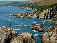 England Coast Stones Mothecombe Devon Nature