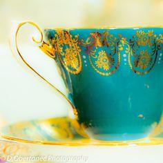 Teacup English Tea England Pastel Victorian Decor Turquoise Teal Aqua Floral Dainty Teatime White, 8 x 8 Fine Art Print. $20.00, via Etsy.