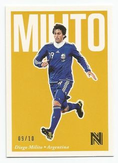 2017 Panini Nobility Diego Milito Base Gold Parallel SP #d 09/10 ARGENTINA | eBay Soccer, Baseball Cards, Sports, Gold, Ebay, Soccer Art, Buenos Aires Argentina, Military, Hs Sports