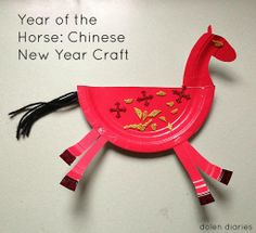 paper plate horse craft, perfect for the year of the horse! {dolen diaries}
