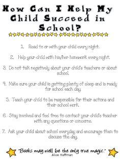 Fun in First Grade: Helping Parents Help Their Children