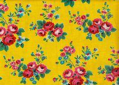 Online French Vintage Mercerie, Ephemera & Textiles by Pommedejour Flower Pattern Design, Flower Patterns, Print Patterns, Vintage Flowers, Vintage Floral, Blue Flowers, Vintage Tile, French Vintage, Vintage Textiles