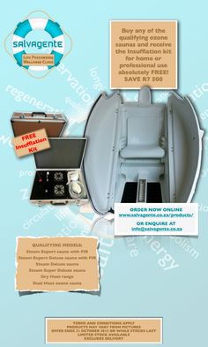 [Promotion] Free Insufflation Kit with the purchase of an Ozone Sauna