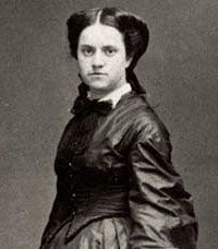 Photograph of Emily Roebling, who assisted her paralyzed husband in overseeing the construction of the Brooklyn Bridge, circa 1883.