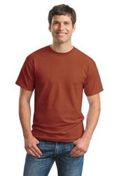 This classic Ultra Cotton style is a great choice for teams, giveaways, marathons or anyone's T-shirt drawer.