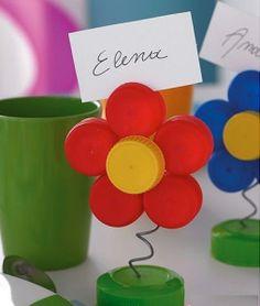 Como hacer flores con tapas de gaseosa