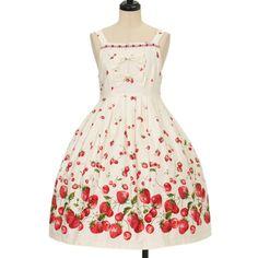 Stripe Cherry jumper skirt metamorphose https://www.wunderwelt.jp/en/products/w-11699  IOS application ☆ Alice Holic ☆ release Japanese: https://aliceholic.com/ English: http://en.aliceholic.com/