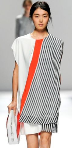SPRING 2014 TREND . . . These colors would work so nicely - bold color on classic patterns!