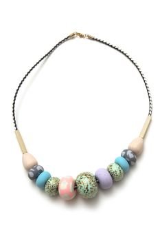 Whitney Big bead necklace | Emily Green Emily Green uses unexpected color combinations all throughout her work
