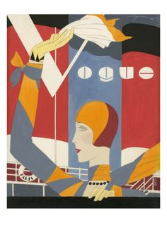 Vogue - October 1927 Premium Giclee Print by Eduardo Garcia Benito at AllPosters.com