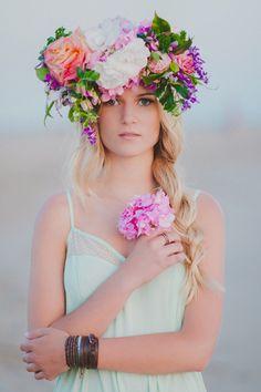 Intense flower crown.