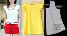 Elimina pinzas en patrones delanteros y espalda y haz blusas y vestidos de moda