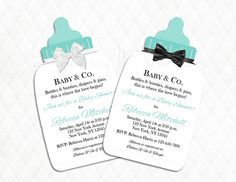 Tiffany & Co. Inspired Bottle Baby Shower by SnowberryMountain