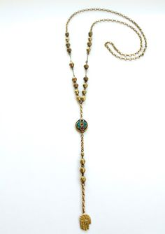 Nepali Inlaid Palm Rosary by BrianneCossette on Etsy