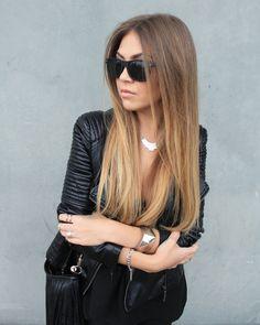 More on www.innerclassy.de black leather pants zara, jacket hm, grunge black, sunnies