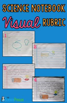 Science Notebook Picture Rubric When words and checklists are not enough, using VISUAL rubrics is perfect! titles, descriptions, labels, and color are all important applications of knowledge