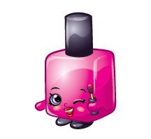 Lequorice (Shopkins 1-049, 1-058) Le'Quorice is a pink, black, and white piece of licorice allsorts. Description from pinterest.com. I searched for this on bing.com/images