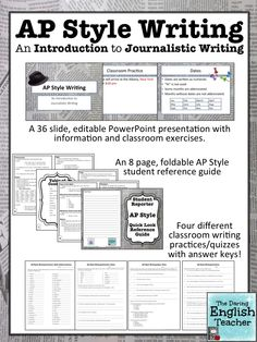 Teach your journalism and yearbook students Associated Press (AP) Style writing!