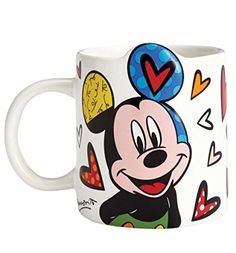 Colorful and Artistic Disney Britto Mickey Mouse Coffee Mug