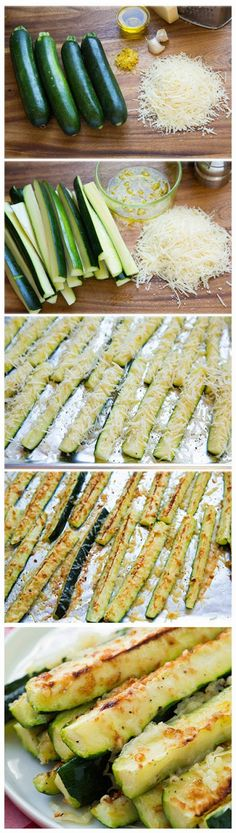Garlic Lemon and Parmesan Oven Roasted Zucchini | #side #zucchini #cheese #PaulDinner