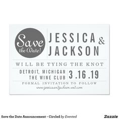 Save the Date Announcement - Circled