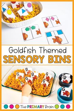 Goldfish themed toddler sensory bins keep your 2-3 year old child learning and engaged all week long! Toddlers love hands on materials that they can touch, taste, and feel! You will also love goldfish toddler activities filled with fine motor skills, goldfish sensory bins, gross motor skills, and toddler math activities. Goldfish toddler curriculum provides opportunities for one on one time with your toddler all week long! Toddler Sensory Bins, Toddler Play, Toddler Learning, Fun Learning, Lesson Plans For Toddlers, Preschool Lesson Plans, Preschool Classroom, Language Activities, Literacy Activities