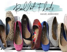 ballet flats from Toms