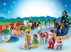 Amazon.com: PLAYMOBIL 1.2.3 Advent Calendar - Christmas on the Farm: Toys & Games
