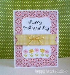Lawn Fawn - Mother's Day, Pink Lemonade paper, Lemonade Lawn Trimmings
