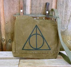 Hand+Painted+on+a+Vintage+Swiss+Military+Satchel+by+clpstudio,+$56.00