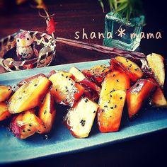 フライパン1つで♪カリカリほっくほく♪大学芋♪ | しゃなママオフィシャルブログ「しゃなママとだんご3兄弟の甘いもの日記」Powered by Ameba