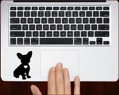 I love French Bulldog Unique Puppy Decal Stickers For Macbook Keyboard Trackpad #RusticDecal
