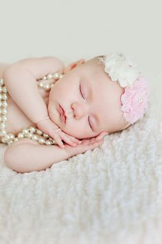 For a granddaughter one day.  Love this headband and pearls...oh my aren't little girls expensive?