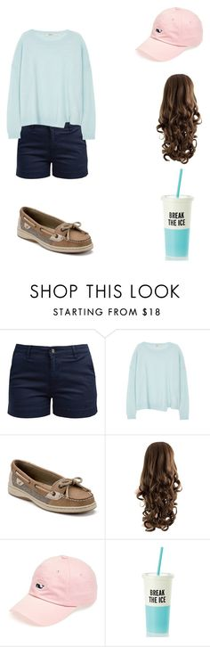 """Spring☀️"" by arisajo ❤ liked on Polyvore featuring Barbour, J Brand, Sperry, Vineyard Vines and Kate Spade"