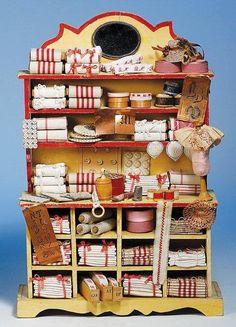 miniture linen shelf unit