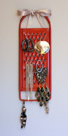 Cheese Grater Earring holder--buy cheese grater from DI and paint