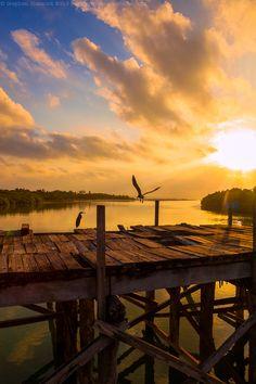 Sunrise at Punta Allen, Mexico