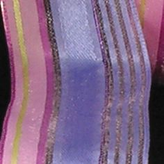 Semi Sheer Pink and Purple Stripes Wired Craft Ribbon 15 x 54 Yards >>> Check out the image by visiting the affiliate link Amazon.com on image.