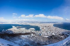 """""""Winter view of daytime from Mt Hakodate.""""  Photo by Masahiro Yamada PHOTOGRAPHY http://mayaphgrphy.wix.com/home  Thank you for following Hakodate Pictorial. Please """"Share"""" or """"Like"""" if you like photos."""