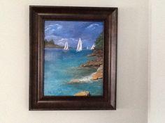 Caribbean, acrylic #16, Dec. 2013 Sail Away, Caribbean, Sailing, Paintings, Frame, Home Decor, Art, Homemade Home Decor, Craft Art