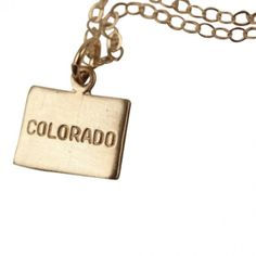 Colorado State Charm Necklace. #necklaces #jewelry   9thelm.com