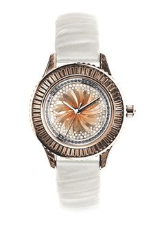 Dior Pièce Unique No.14. 33mm automatic - Pink gold, baguette brown garnets, diamonds and smoked quartz. One-of-a-kind piece.