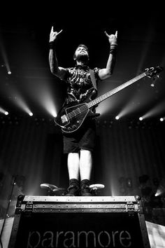 Jeremy Davis of Paramore. He's a really under-rated bassist.