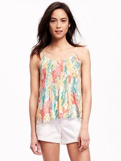 Pintuck Swing Cami for Women Product Image