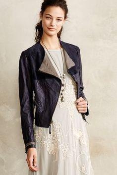 Anthropologie Colorblock Leather Moto Jacket #anthrofave #anthropologie
