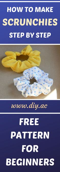 DIY - how to make scrunchies step by step, hair ties tutorial. - Lily Downs - DIY - how to make scrunchies step by step, hair ties tutorial. DIY - how to make scrunchies step by step, hair ties tutorial. Sewing Patterns For Kids, Sewing Projects For Beginners, Sewing For Kids, Free Sewing, Pattern Sewing, Baby Patterns, Diy Projects, Basic Sewing, Diy Hair Scrunchies