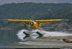 De Havilland DHC-2 Beaver Mk1. Has been and always will be one of my favorite planes. When I dream of flying into lakeside cabins, it's always in a retro brushed aluminum Beaver. we love float planes and amphibian aircraft @ http://ridgelandingairpark.com/